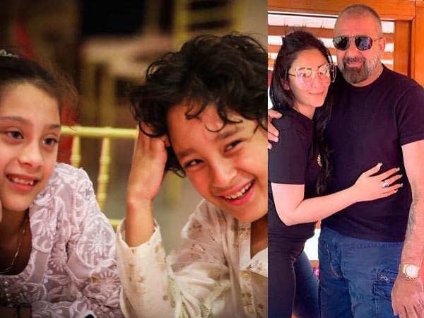 Maanayata Dutt posts a lovely picture as Sanjay Dutt reunites with his kids