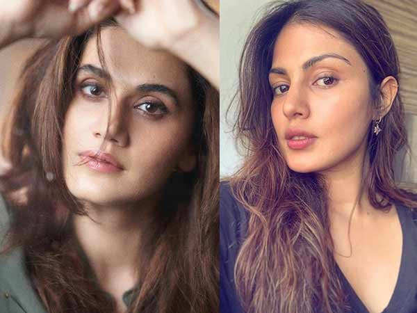 Here's why Taapsee Pannu feels its important to talk about Rhea Chakraborty