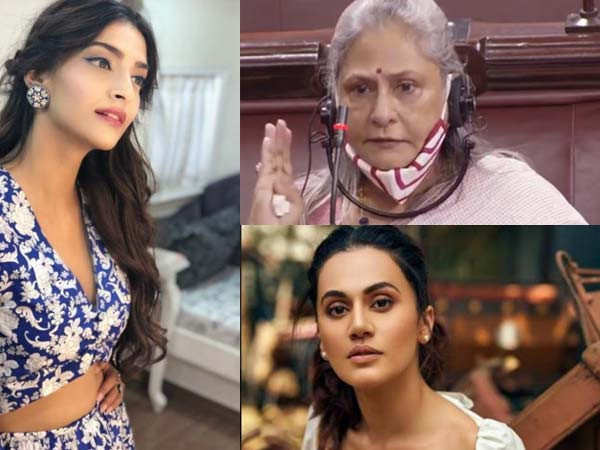 Taapsee Pannu, Farhan Akhtar, Sonam Kapoor come in support of Jaya Bachchan after her speech
