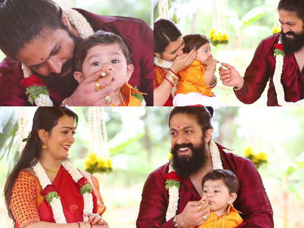 South actor Yash shares an adorable video from his second child's naming ceremony
