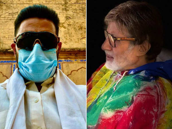 Amitabh Bachchan and Abhishek Bachchan ask fans to stay home and stay safe