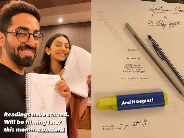 Ayushmann Khurrana and Rakul Preet Singh begin prep for Doctor G