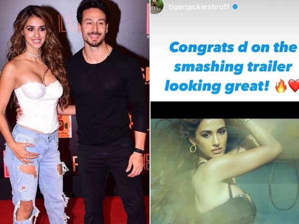 Tiger Shroff cheers on Disha Patani as Radhe trailer releases