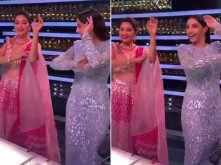 Nora Fatehi and Madhuri Dixit dance to viral Dilbar number - watch