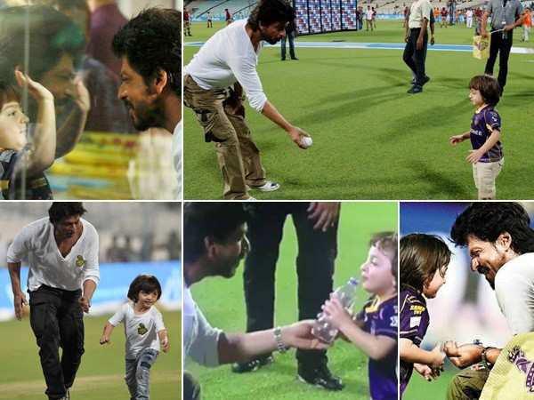 Cutest moments between Shah Rukh Khan and AbRam Khan during IPL matches