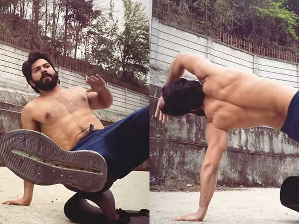 Varun Dhawan's shirtless working-out video is making things HOT on Instagram