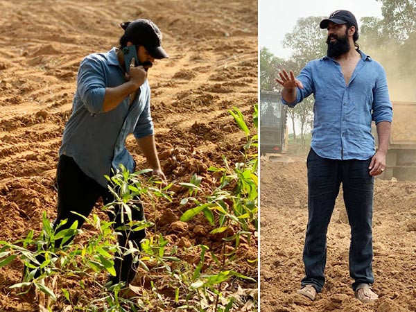 KGF star Yash spends time restoring his land near the farmhouse in Hassan