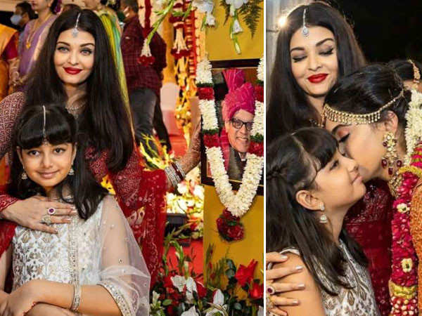 Aishwarya Rai Bachchan attends her cousin's wedding with Aaradhya Bachchan