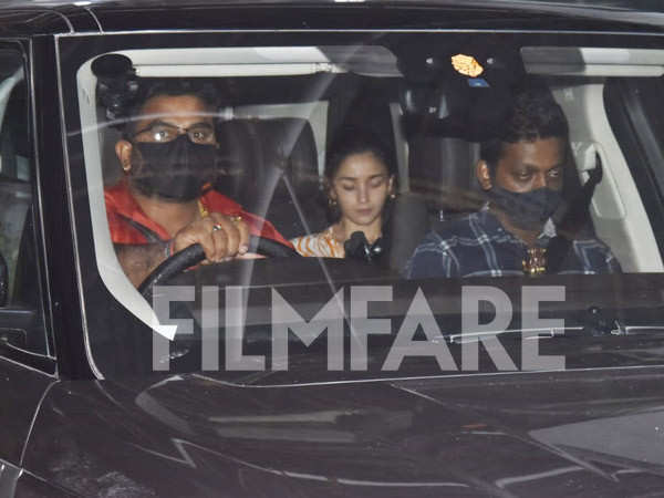 In pictures: Alia Bhatt clicked post a dubbing session