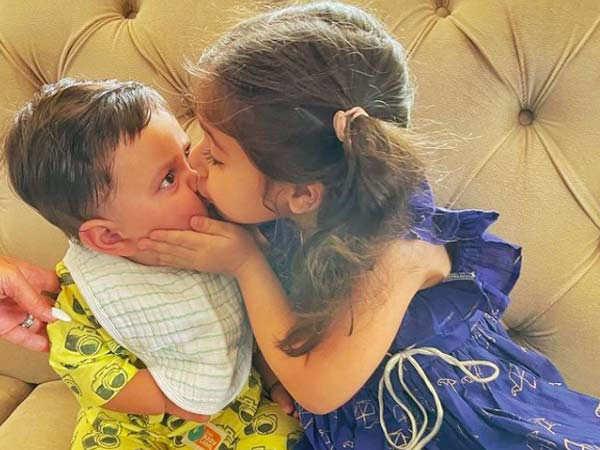 Sister Inaaya Showers Love On Baby Jeh On His First Rakshabandhan