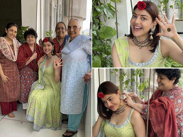 Here's how Kajal Aggarwal celebrated her Hariyali Teej post-marriage