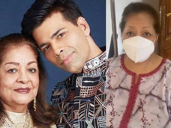 Karan Johar shares his mother Hiroo Johar had two major surgeries during the pandemic