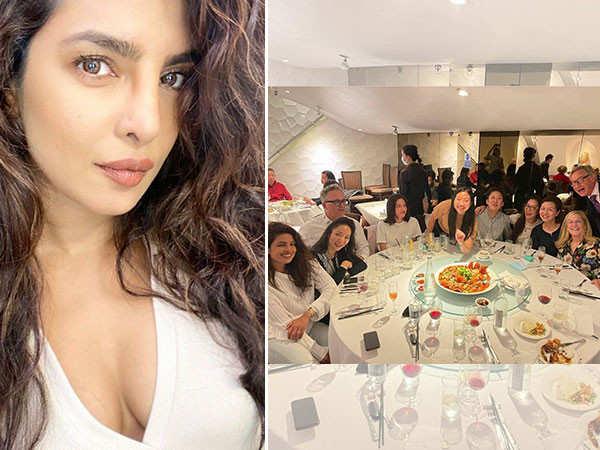 Priyanka Chopra Jonas dines with Marvel's Shang Chi stars