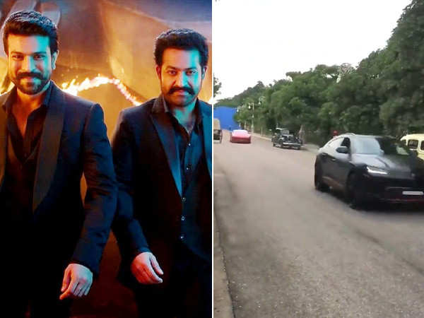 Ram Charan and Jr NTR jet off in their swanky rides post wrapping up RRR