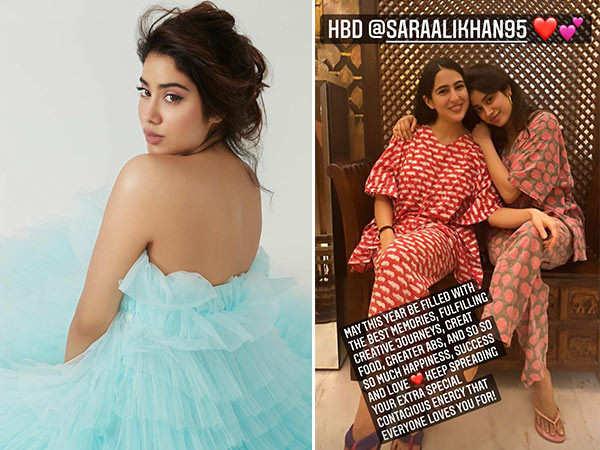 Janhvi Kapoor specially comes to wish birthday girl Sara Ali Khan