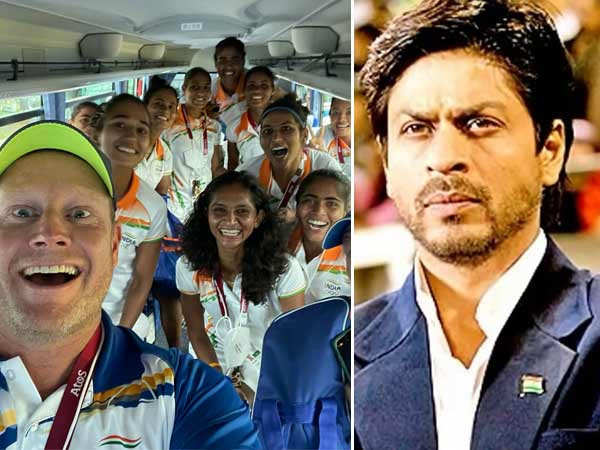 Shah Rukh Khan And Indian Women's Hockey Team Coach Sjoerd Marijne Have A Chak De! India Moment