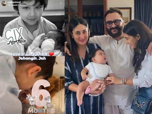 Kareena's little Jeh gets a sweet wish from aunt Saba Ali Khan as he turns 6-months-old