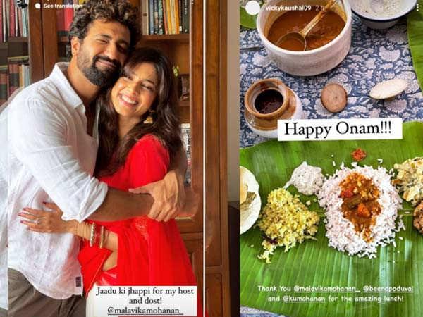 Vicky Kaushal celebrates Onam with Malavika Mohanan