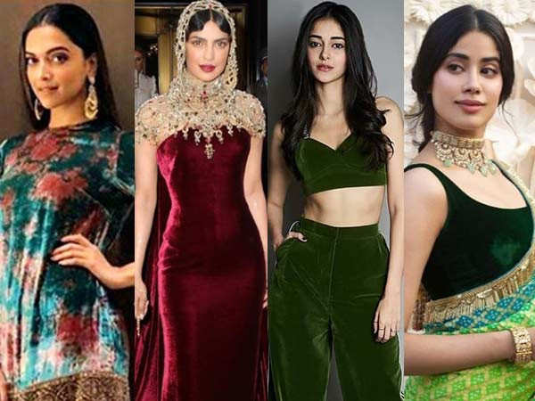 10 Bollywood Stars Who Wowed Us With Their Velvet Outfits