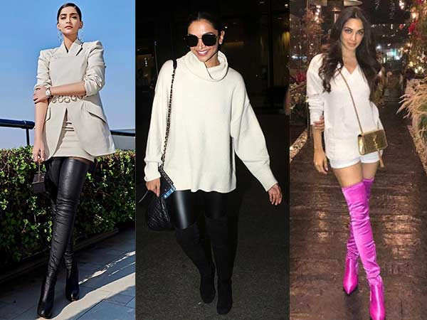 8 Celeb-Approved Ways To Style Your Thigh- High Boots With Your Outfit