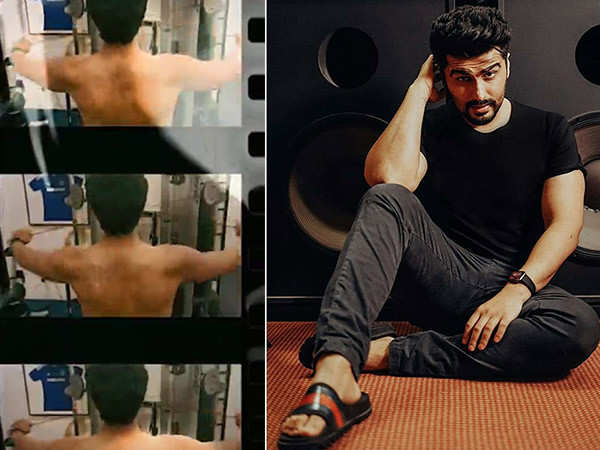 Arjun Kapoor works out in a gym and flaunts his toned back on Instagram