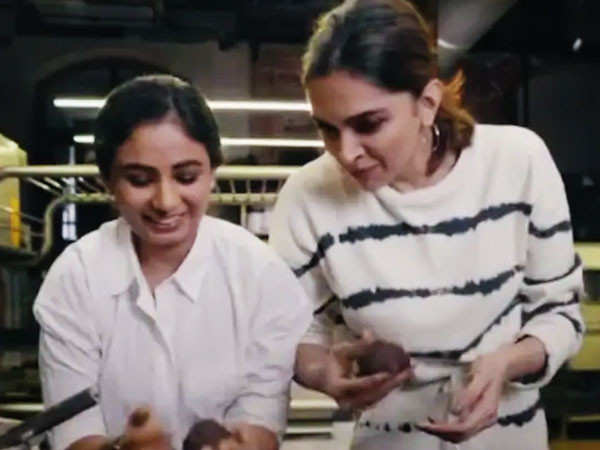 Deepika Padukone indulges in a bake-off with her school friend