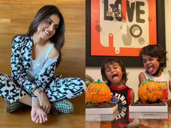 Genelia D'Souza's Video With Her Sons Lip Syncing To Main Tera Boyfriend Is Too Cute
