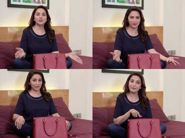 Madhuri Dixit Nene reveals what all she keeps in her handbag