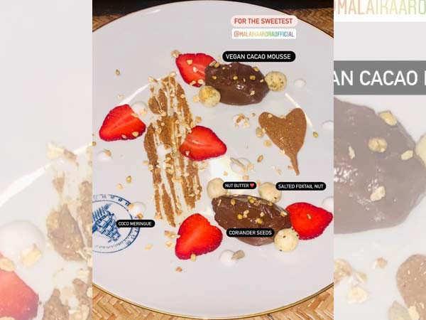 Malaika Arora relishes sweet desserts