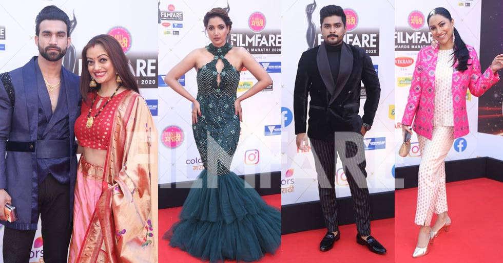 Photos: Stars arrive at the Planet Marathi presents Filmfare Awards (Marathi)