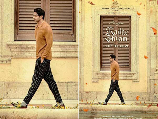 Prabhas Romantic Look In This New Poster Of Radhe Shyam Is Eye-Catching
