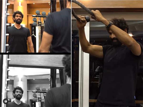 Rana Daggubati gives us a glimpse of his hardcore workout regime