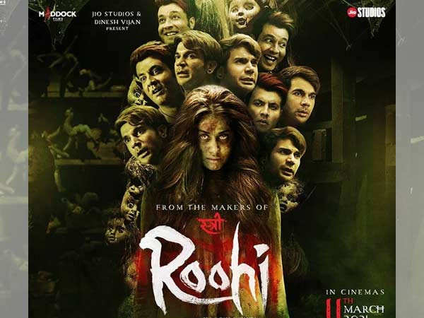 Rajkummar Rao, Janhvi Kapoor and Varun Sharma feature on the posters of Roohi