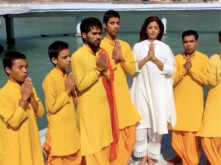 Shilpa Shetty shares a video of chanting a mantra in Haridwar