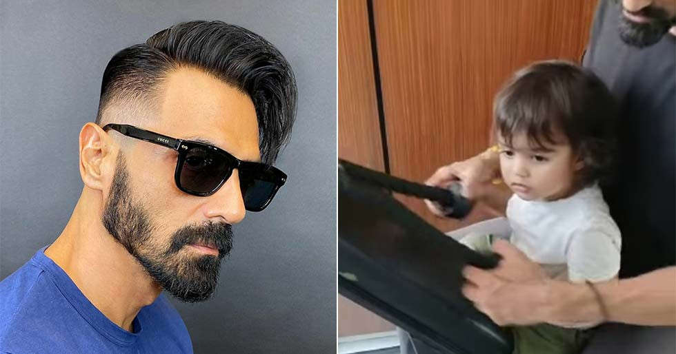 Arjun Rampal has the cutest gym partner