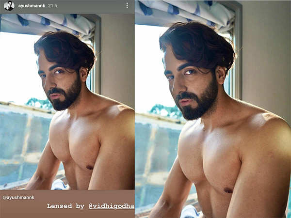 Ayushmann Khurrana goes shirtless and sets social media on fire