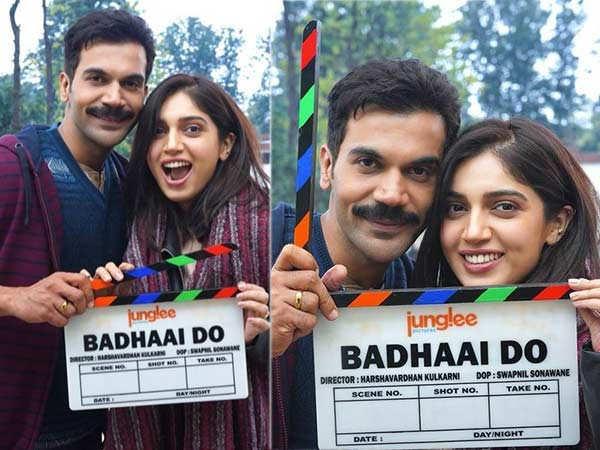 Rajkummar Rao and Bhumi Pednekar start shooting for Badhaai Do