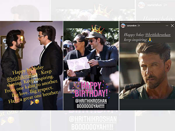 Katrina Kaif, Shahid Kapoor, Varun Dhawan and more send birthday wishes for Hrithik Roshan