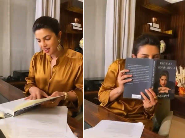 Priyanka Chopra Jonas is ecstatic on holding her book for the first time
