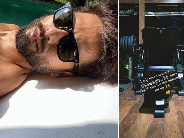 Shahid Kapoor has an amazing set up for a great workout session in Goa