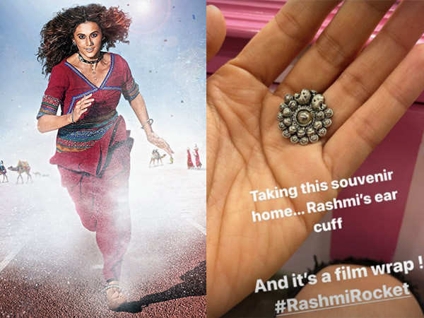 Here's what Taapsee Pannu toaok as a souvenir from Rashmi Rocket