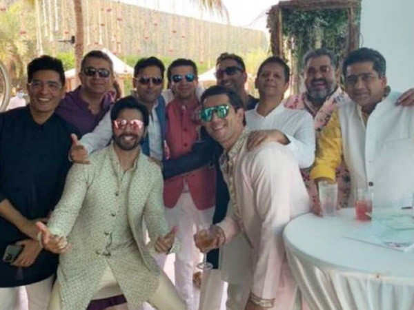 First picture: Varun Dhawan enjoys his wedding festivities with his boys