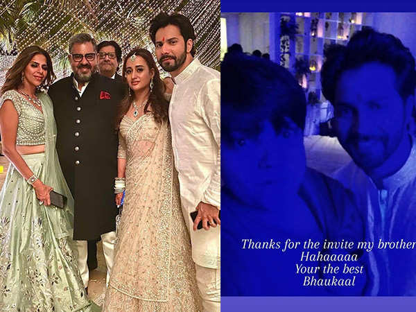 Check out some inside pictures from Varun Dhawan and Natasha Dalal's wedding