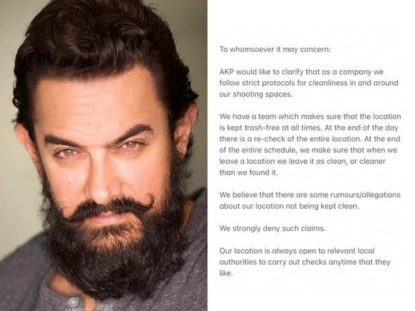 Makers of Aamir Khan's Laal Singh Chaddha issue a statement debunking littering allegations