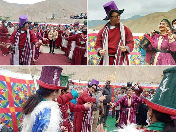 Aamir Khan and Kiran Rao dance together in Ladakh during the shoot of Laal Singh Chaddha