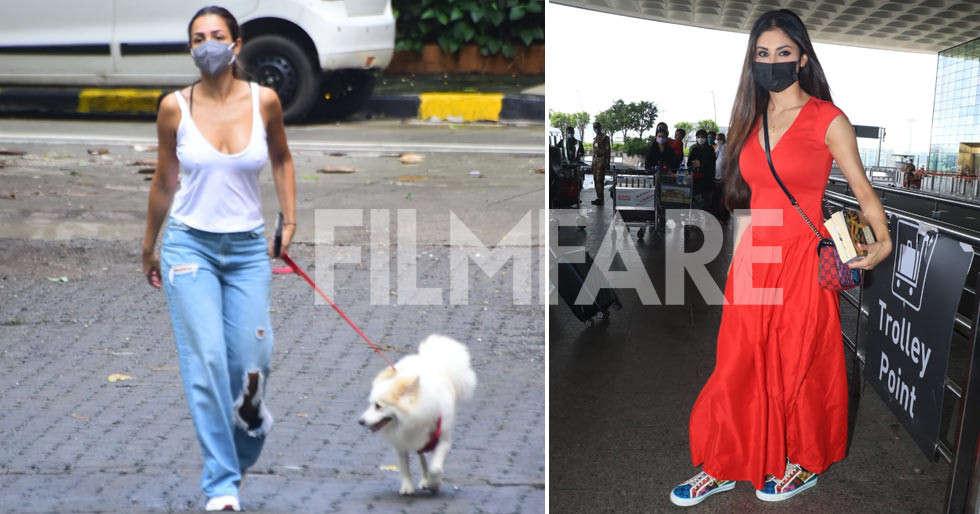 Photos: Malaika Arora, Mouni Roy clicked in the city