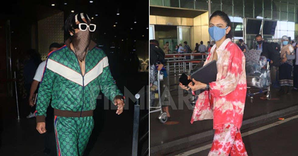 Ranveer Singh and Rakul Preet Singh jazz up the airport paparazzi scene