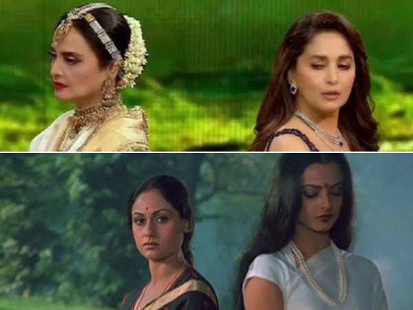 Watch Madhuri Dixit and Rekha enact the famous Silsila scene