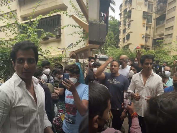 Video: Hundreds Of Fans Gather Outside Sonu Sood's Residence On His Birthday