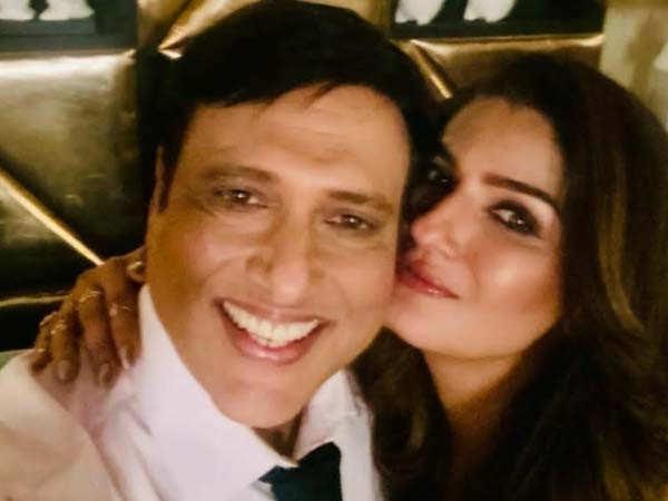 Govinda and Raveena reunite after many years
